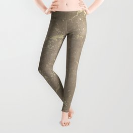Coral Marble Gold Mine Leggings