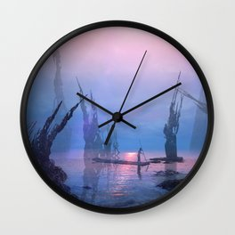 Ancient Lake Wall Clock
