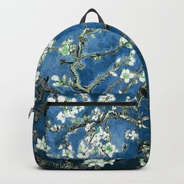 Van Gogh Almond Blossoms : Ocean Blue Backpack