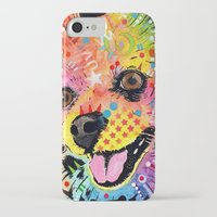 pomeranian iPhone & iPod Cases featuring Pomeranian dog by trevacristina