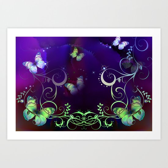 Butterfly Fantasy Art Print