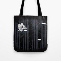 Snow Owls Tote Bag