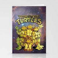 teenage mutant ninja turtles Stationery Cards featuring Teenage Mutant Ninja Turtles by Nerdy Girl Swag