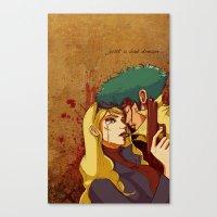 bebop Canvas Prints featuring Cowboy Bebop by Burcu Aycan