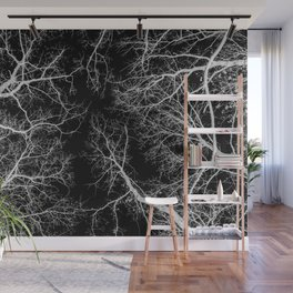 Black and white tree photography - Watercolor series #10 Wall Mural