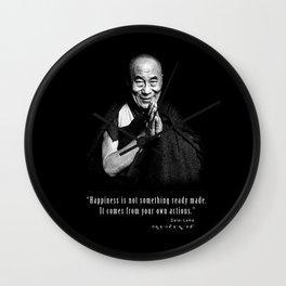 Dalai Lama-Tibetan- Buddhism-Nobel Peace-religion Wall Clock