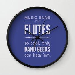 Flutes — Music Snob Tip #413 Wall Clock