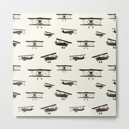 Retro airplanes Metal Print