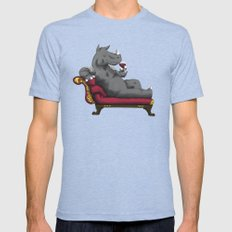 Wineoceros LARGE Tri-Blue Mens Fitted Tee