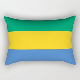 Flag: Gabon Rectangular Pillow