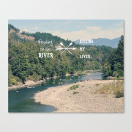 Floating on the River Canvas Print