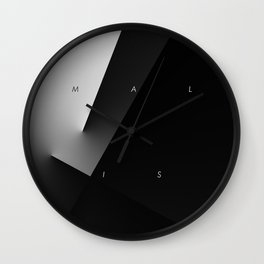 History of Art in Black and White. Minimalism Wall Clock