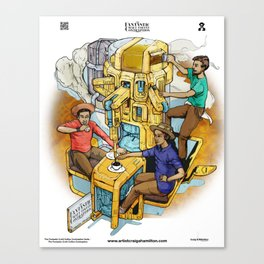 The Fantastic Craft Coffee Contraption Suite - The Fantastic Craft Coffee Contraption Canvas Print