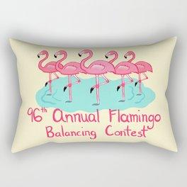 Flamingo Balancing Contest Rectangular Pillow