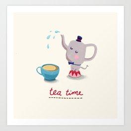 Teatime Art Print
