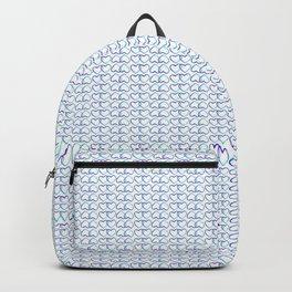 Blue Heart multiple Backpack