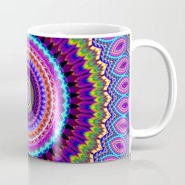 purple feathers Mandala Coffee Mug