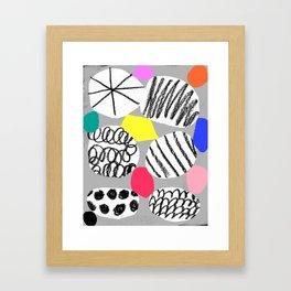 hidden treasures III gray Framed Art Print