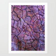 Colored stone wall Art Print