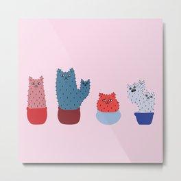 Catcus - Pink Theme Metal Print