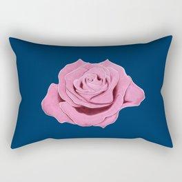 Vibrant Pink Rose Rectangular Pillow