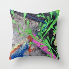 Color Entropy III Throw Pillow