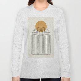 Gold Sun rainbow mountain Long Sleeve T-shirt