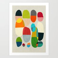 pills Art Prints featuring Jagged little pills by Picomodi