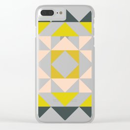 Pretty Triangle Modern Medallion Clear iPhone Case
