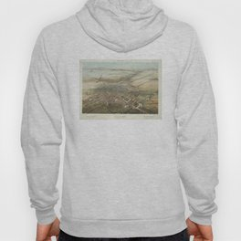 Vintage Pictorial Map of Mexico City (1869) Hoody