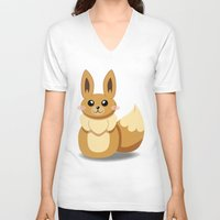 eevee V-neck T-shirts featuring Evolution Bobbles - Eevee by creativeesc