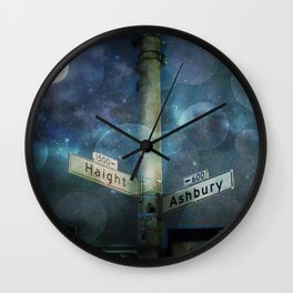 Haight Ashbury Vibes Wall Clock