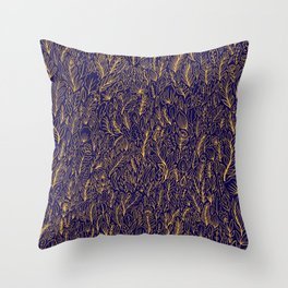 Leaves at Sunrise Throw Pillow