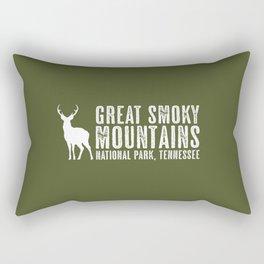 Deer: Great Smoky Mountains, Tennessee Rectangular Pillow