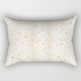 Celestial Pearl Moon & Stars Rectangular Pillow