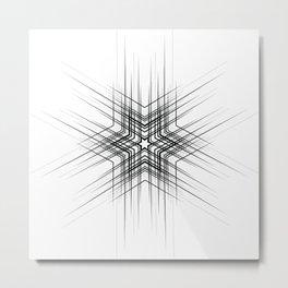 Black and white tattoo design, modern minimalist Metal Print