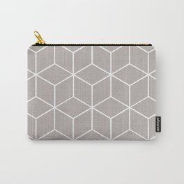 Cube Geometric 03 Grey Carry-All Pouch