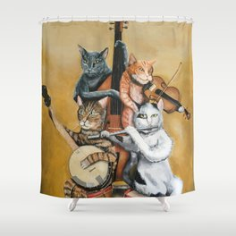 Cat Quartet Shower Curtain