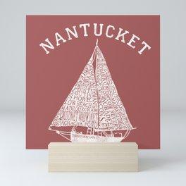 Nantucket Beaches Sailboat Mini Art Print