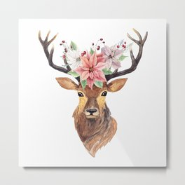 Winter Deer 3 Metal Print