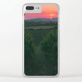 Vineyard Clear iPhone Case