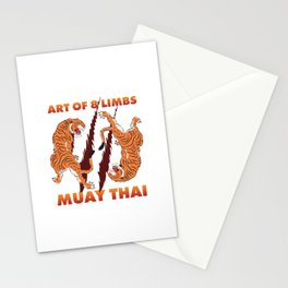 Martial Arts Muay Thai Stationery Cards
