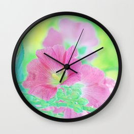 Pink Soft Malve Wall Clock