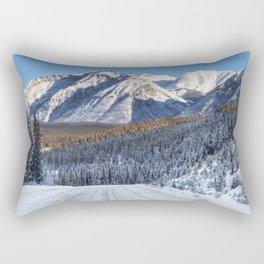 Winter Wonderland - Road in the Canadian Rockies Rectangular Pillow