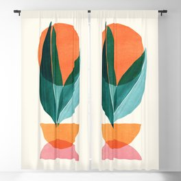 Nature Stack II / Abstract Shapes Illustration Blackout Curtain
