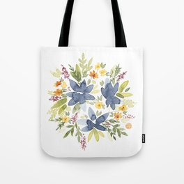Watercolor Floral Bouquet Tote Bag