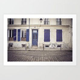 Streets of Montmartre Paris Art Print