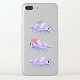 Ribbon giant isopod Clear iPhone Case