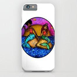 2 Mermaids drinking Wine iPhone Case