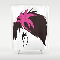 alex turner Shower Curtains featuring Alex by bananadeaf